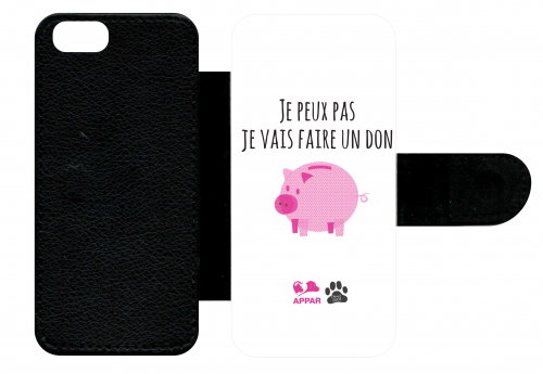 Etui à rabat apple iphone se je peux pas je vais faire un don